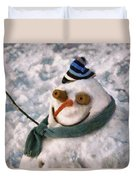 Winter - I'm Ready For My Closeup Duvet Cover by Mike Savad