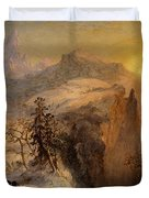 Winter in Switzerland Duvet Cover by Jasper Francis Cropsey