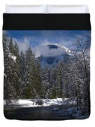 Winter In The Valley Duvet Cover by Bill Gallagher