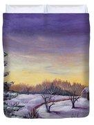 Winter In Vermont Duvet Cover by Anastasiya Malakhova