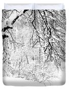 Winter Lace II Duvet Cover by Jenny Rainbow