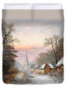 Winter Landscape Duvet Cover by Charles Leaver