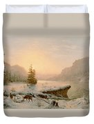 Winter Landscape Duvet Cover by Mortimer L Smith