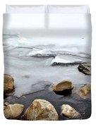 Winter Quabbin Duvet Cover by Randi Shenkman