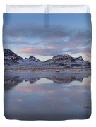 Winter Salt Flats Duvet Cover by Chad Dutson