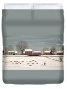Winter Scene In Lincolnshire Duvet Cover by Vincent Haddelsey