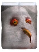 Winter - Snowman - What are you looking at Duvet Cover by Mike Savad