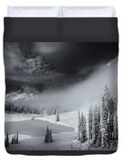 Winter Storm Clears Duvet Cover by Mike  Dawson