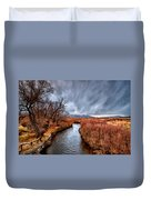 Winter Storm Over Owens River Duvet Cover by Cat Connor