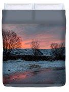 Winter Sunrise Duvet Cover by Chad Dutson