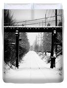 Winter Tracks Duvet Cover by Aaron Lee VonBerg