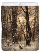 Winter Twilight Duvet Cover by Ludwig Munthe