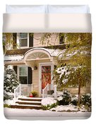 Winter - Westfield Nj - It's Too Early For Winter Duvet Cover by Mike Savad