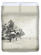 Winter White Duvet Cover by Julie Palencia