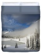Winter Wonderland Duvet Cover by Mike  Dawson