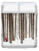 Winter Frolic Duvet Cover by Mary Amerman