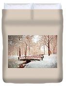 Winter's Bridge Duvet Cover by Marty Koch