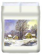 Wintertime In The Country Duvet Cover by Carol Wisniewski