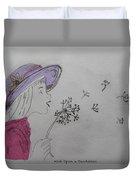 Wish Upon A Dandelion In Colour Duvet Cover by Jennifer Schwab
