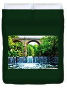 Wissahickon Falls Duvet Cover by Bill Cannon
