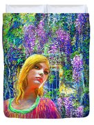 Wisteria Duvet Cover by Jane Small