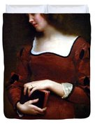 Wistful Thoughts Duvet Cover by Gustave Jean Jacquet