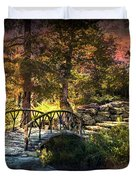 Woddard Park Bridge II Duvet Cover by Tamyra Ayles