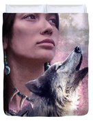 Wolf Montage Duvet Cover by Garry Walton