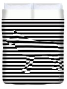 Wolf Optical Illusion Duvet Cover by Pixel  Chimp