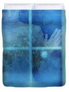 Woman At A Window Duvet Cover by Jill Battaglia