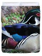 Wood Duck Duvet Cover by Cynthia Guinn