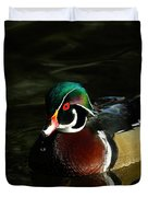 Wood Duck Drip Duvet Cover by Steve McKinzie