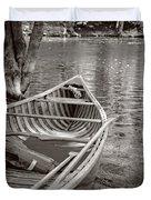 Wooden Canoe Duvet Cover by Edward Fielding