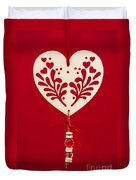 Wooden Heart Duvet Cover by Anne Gilbert