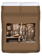 Wooden Shack Duvet Cover by Carlos Caetano