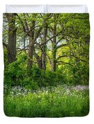Woodland Phlox Duvet Cover by Steve Harrington