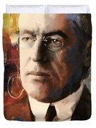 Woodrow Wilson Duvet Cover by Corporate Art Task Force