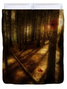Woods With Pine Cones Duvet Cover by Meirion Matthias