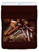 Woodworker - A Collection Of Hammers  Duvet Cover by Mike Savad
