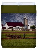 Working The Fields Duvet Cover by Susan Candelario