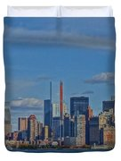 World Trade Center Painting Duvet Cover by Dan Sproul
