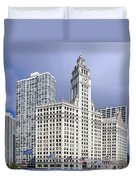 Wrigley Building Chicago Duvet Cover by Christine Till