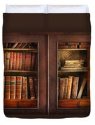 Writer - Books - The Book Cabinet  Duvet Cover by Mike Savad