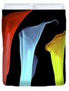 X-ray Of Three Lilies Duvet Cover by Bert Myers
