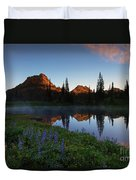 Yakima Peak Sunrise Duvet Cover by Mike  Dawson