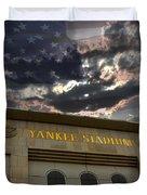 Yankee Stadium Ny Duvet Cover by Chris Thomas