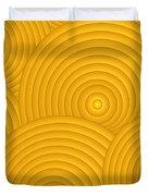 Yellow Abstract Duvet Cover by Frank Tschakert