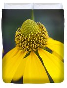 Yellow Coneflower Rudbeckia Duvet Cover by Rich Franco