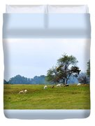 Yellow Fields Duvet Cover by Jan Amiss Photography