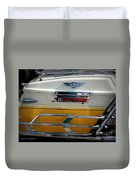 Yellow Harley Saddlebags Duvet Cover by Lainie Wrightson